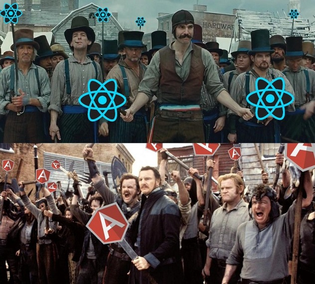 ror angular react
