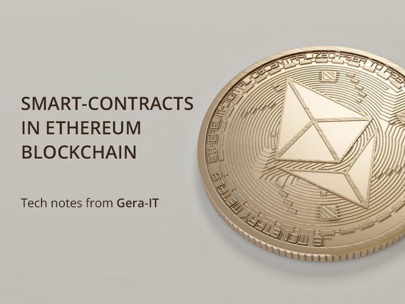 Smart-contracts in Ethereum blockchain