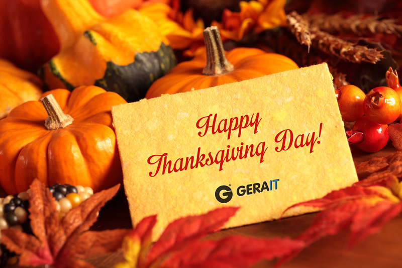 Wish a happy Thanksgiving!